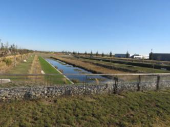 plan d'eau épuratif et espace de détente