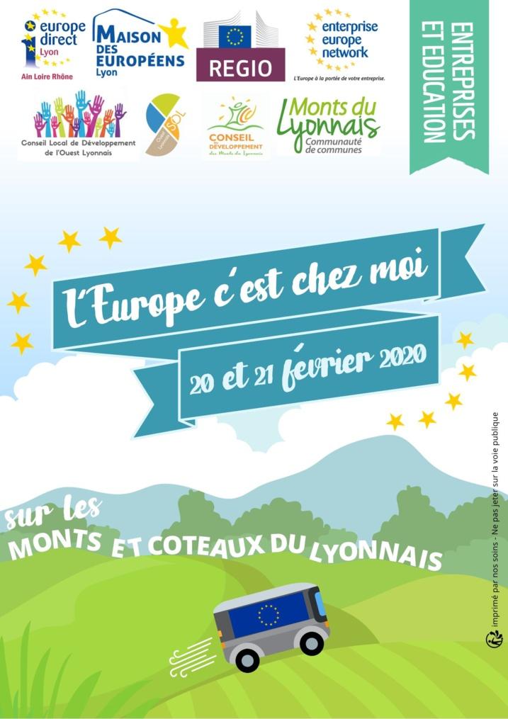 """""""L'Europe c'est chez moi...sur l'Ouest Lyonnais"""""""