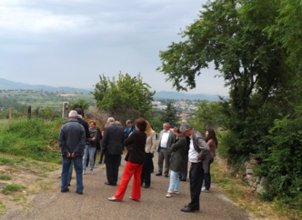 visite du territoire de la communauté de communes de la Vallée du Garon, le 25 mai 2016