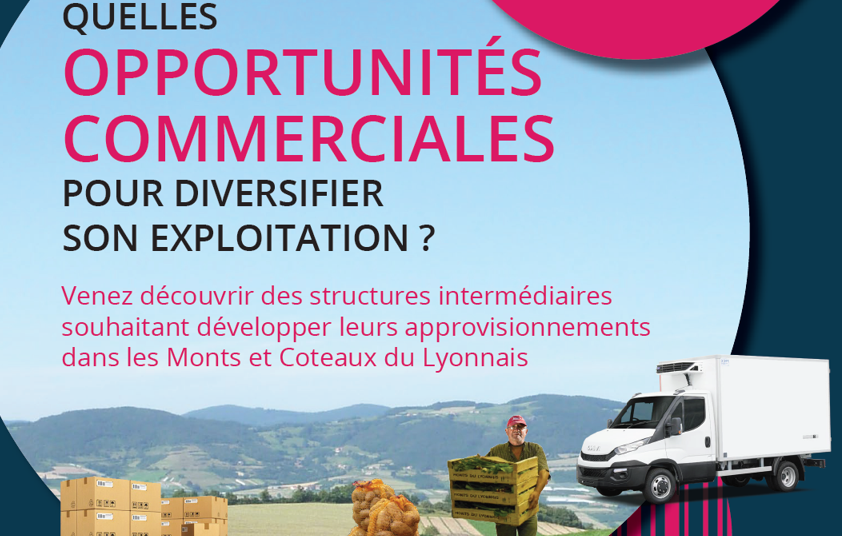 Agriculteurs des Monts et Coteaux : venez vous renseigner sur les potentiels de diversification !