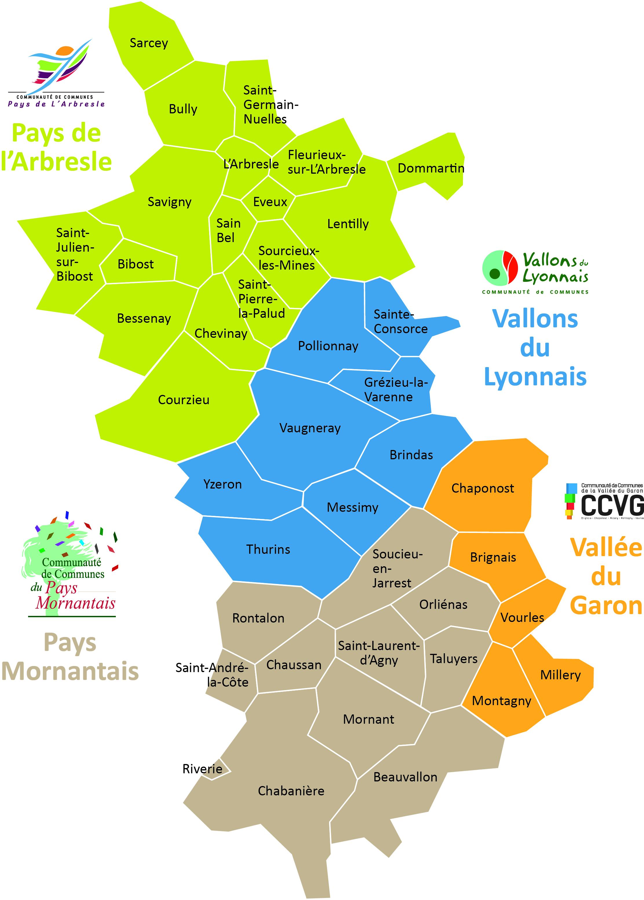 Le territoire de l'Ouest Lyonnais